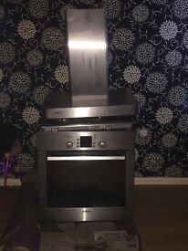Hob oven And extractor all in excellent working order