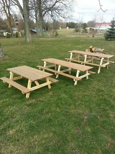 Kids and adult picnic tables!