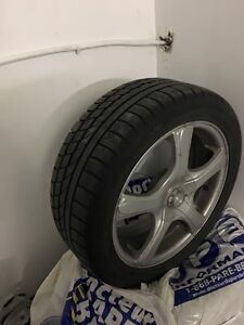 Hankook Icebear winter tire with mags 215-50-17