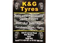 Brand new & Part worn Tyres