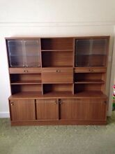 Wall unit with glass sliding doors. Warrnambool 3280 Warrnambool City Preview