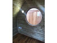 European Oak Round Solid Window