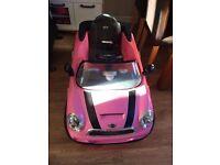 Mini Cooper ride in electric car