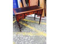 Stunning Antique Edwardian Mahogany Ladies Writing Desk