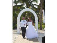 Size 18 serenity wedding dress. White