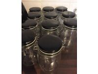 11 Glass jars 1 litre ideal wedding storage