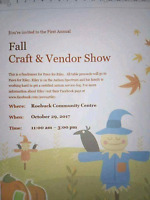 Looking for Vendors for Fall Craft and Vendor Show