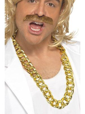 1970S 80S ADULT PIMP GANGSTER RAPPERS COSTUME BIG CHUNKY NECKLACE GOLD CHAIN ](80's Accessories)