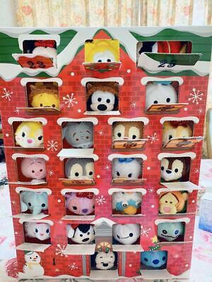 DISNEY STORE Tsum Tsum Christmas Advent Calendar Set Tsum Plush in X'mas costume