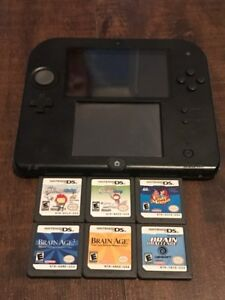 Blue Nintendo 2DS with 6 Games