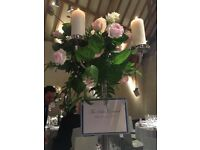 10 x Candelabra's & Candles (Non-Drip)