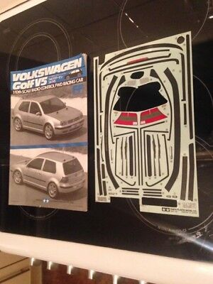 Tamiya VW Golf V5 Leftover Decals & Manual