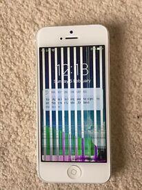 Unlocked white iphone 5 , 32GB