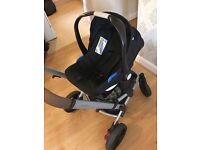 Mothercare expedior coral travel system with rain covers