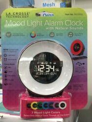 C85135 La Crosse Technology Mood Light & Nature Sound Digital Alarm Clock NIB