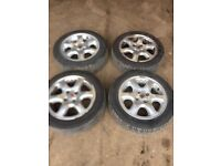 Genuine Rover 25 set of alloy wheels and tyres
