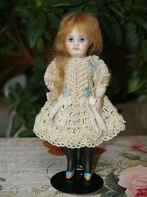 Mohair Doll Wig, For TINY Doll Head. Mignonette strawberry Blond, Prestige Wig