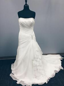 PICK UP TODAY! Beautiful Size 12 Mon Cheri Bridal Gown - $400