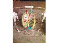 Musical Swing / Rocking Chair by Fisher Price - AS NEW