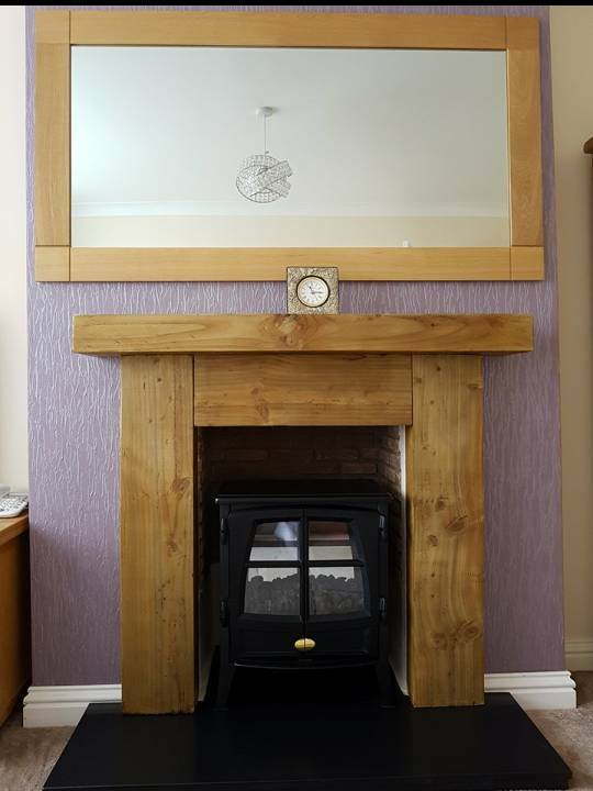 Stunning Fire Surround Hand Made In Railway Sleepers In