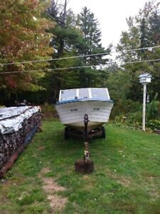 Boat Motor and Easy Load trailor for sale