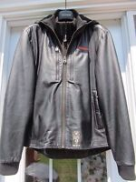 Leather Tapout Jacket Mens