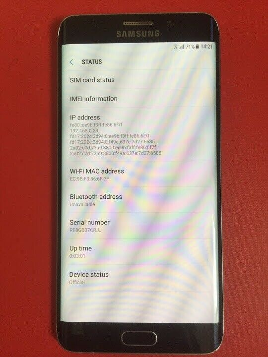 galaxy s6 phone serial number