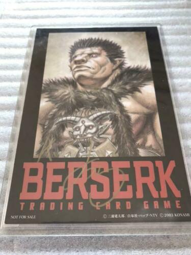 Konami Berserk TCG VOL.1 Kentaro Miura Autographed Card Zod Limited to 50 byDHL