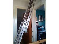 aluminium sliding loft ladder (new)