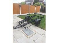 Motocross 2 motorcycle trailer with full working electrics. £150