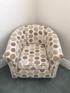 Harvey Norman tub chair Paddington Eastern Suburbs Preview