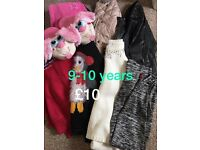 Girls clothes and slippers 9-10 years