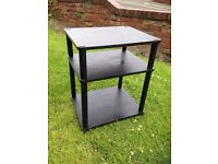 3 tier black tv unit / stand / table