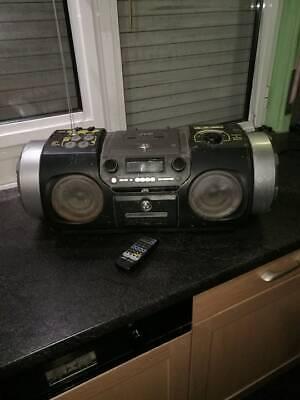 JVC RV-DP100 RADIO BOOMBOX + RM-SRVDP100E remote control - Ghettoblaster -Aux in tweedehands  verschepen naar Netherlands