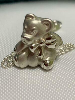 Tiffany & Co. Teddy Bear Necklace Pendant Silver Accessory