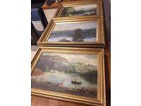 3 original Victorian Paintings