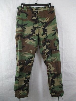 mens trousers army surplus/military combat US woodland BDU camo ripstop cargo  - Military Surplus Bdu