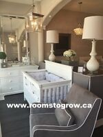 VISIT OUR NEW SHOWROOM!  SALE on Cribs, dressers, Gliders & more