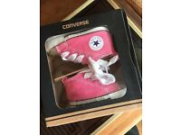Baby girls size one converse