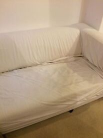 White Sofa with Removable Cover