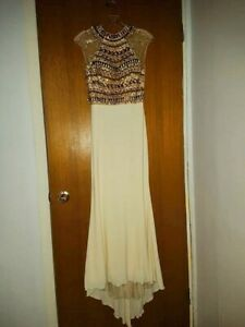 Gold Grad Dress Size 2, Altered to be slightly shorter