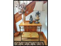 French cottage Vintage Solid Wood Entrance Hall Table - Free Delivery