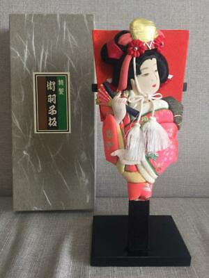 Used, Japanese  HAGOITA wooden paddle, KABUKI SAMURAI, box incl. - 25cm tall  for sale  Shipping to Canada