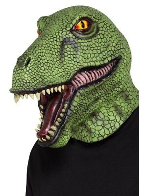 Lizard Costume (ADULT MENS RAPTOR T-REX LIZARD DINOSAUR REPTILE COSTUME LATEX MASK ANIMAL)