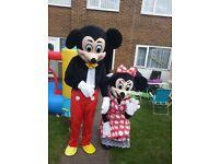 Mickey and minnie mascots