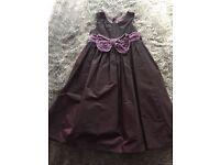 Plum Occasion Dress with Cardigan 6-7 yrs