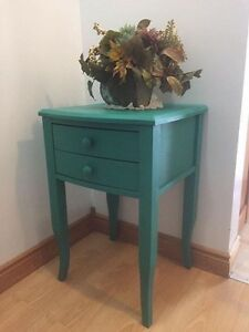 Refinished side table / foyer table - chalk Painted