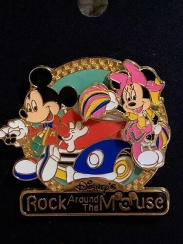Disney Pin Tokyo Disneyland Mickey Minnie Rock Around The Mouse From Japan