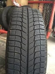 215/60R17 Michelin Xice 2 used winter tires 75% tread left