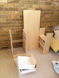 Desk malibu 3 draw oak